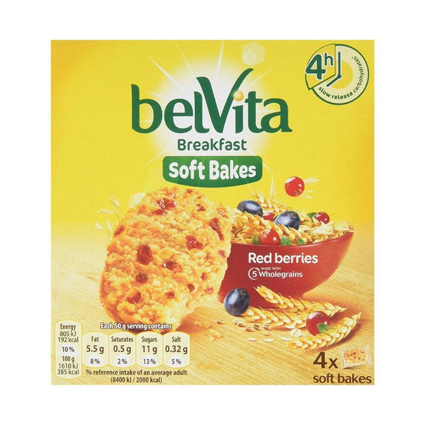 Belvita Breakfast Soft Bakes Red Berries Pack 4's