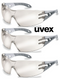 UVEX Pheos Safety Specs Scratch Resistant Coating MIRRORED
