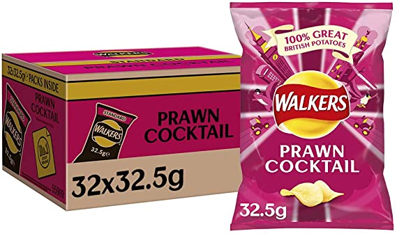 Walkers Prawn Cocktail Crisps Pack 32's