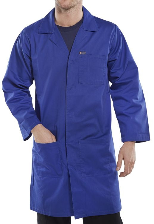 Warehouse Hygiene Coat Royal Blue (All Sizes)