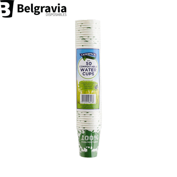 Belgravia Bio Caterpack 6oz Water Cups Pack 50's