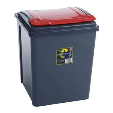 Wham Recycle It Red Bin & Lid 50 Litre