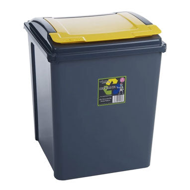 Wham Recycle It Yellow Bin & Lid 50 Litre