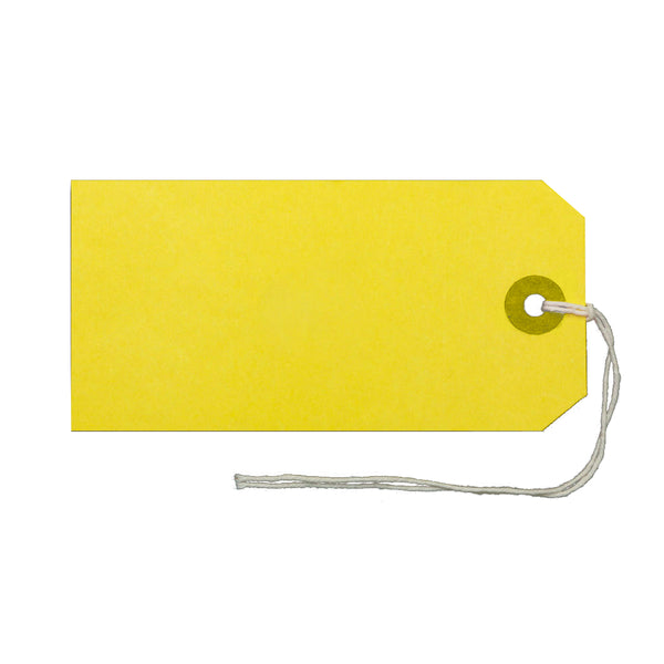 Strung Tags / 120x60mm / Yellow / Pack of 1000