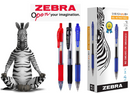 Zebra Sarasa Retractable Rollerball Gel Ink Pen Medium Black (Pack 12)