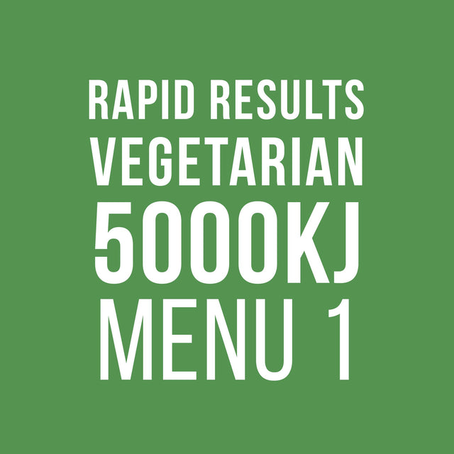 Rapid Results 5000kJ Vegetarian Menu 1