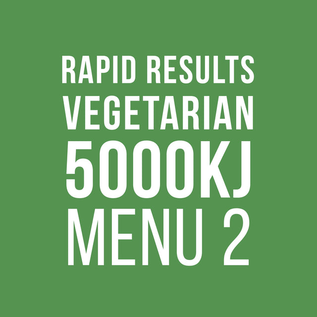 Rapid Results 5000kJ Vegetarian Menu 2