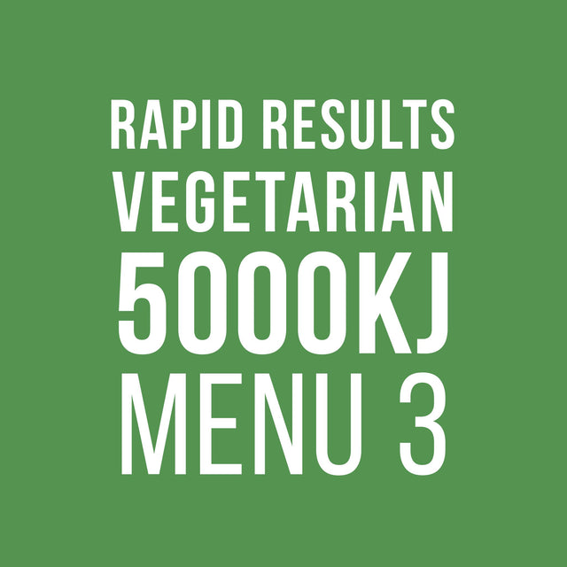 Rapid Results 5000kJ Vegetarian Menu 3