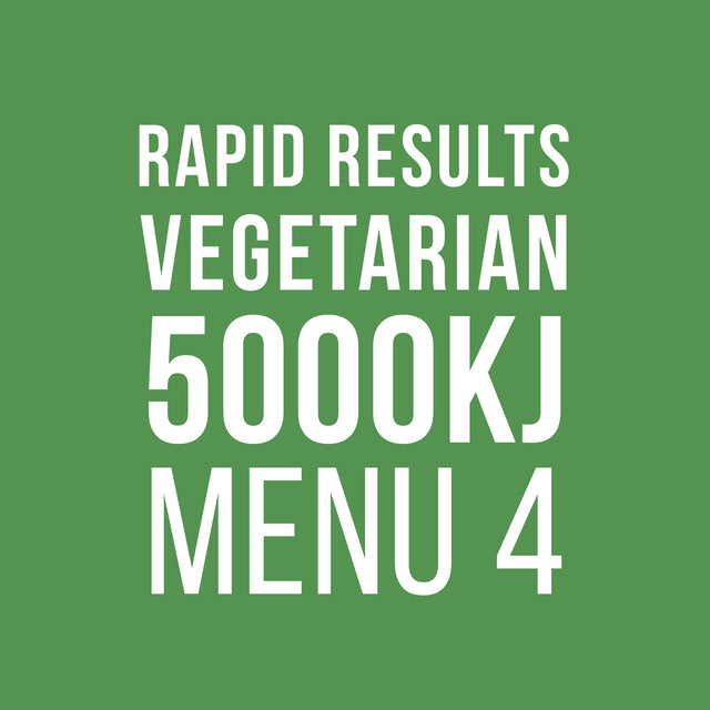 Rapid Results 5000kJ Vegetarian Menu 4