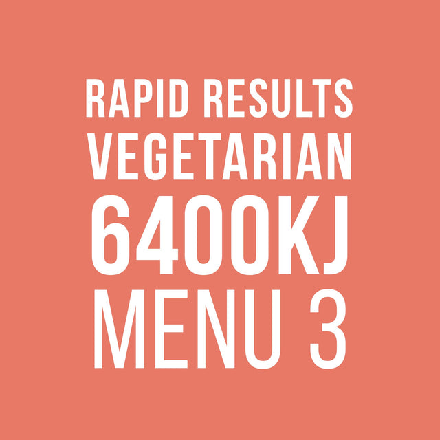 Rapid Results 6400kJ Vegetarian Menu 3