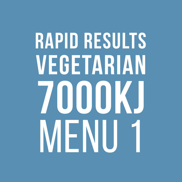 Rapid Results 7000kJ Vegetarian Menu 1