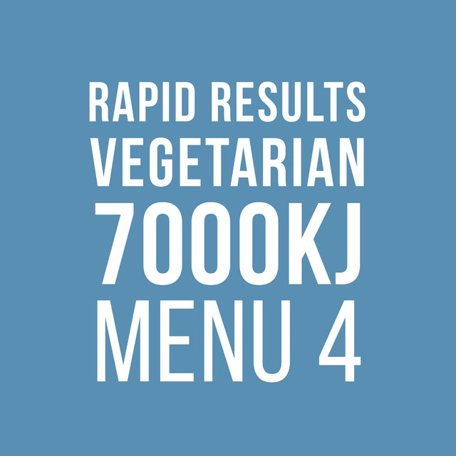 Rapid Results 7000kJ Vegetarian Menu 4