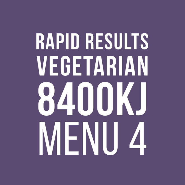 Rapid Results 8400kJ Vegetarian Menu 4