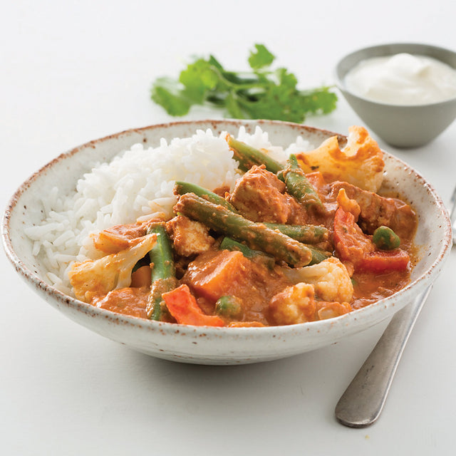 Vegetable Tikka Masala With Paneer Cheese