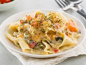 Creamy Vegetable Pappardelle