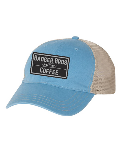 Badger Brothers Baby Blue Trucker Hat (Snapback)