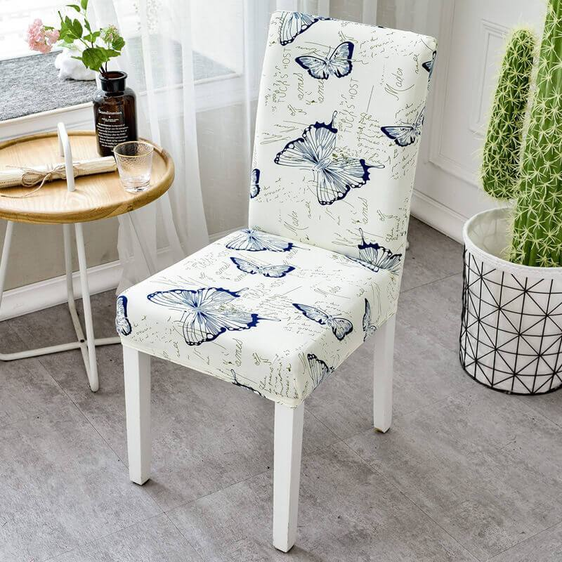 Stretch Removable Washable Dining Chair Covers,Soft Spandex Printed Chair Slipcovers Protector Slipcover