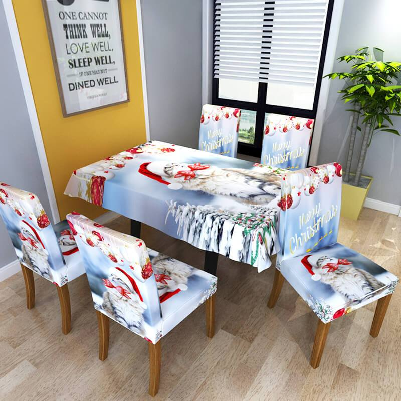 Washable Dust-Proof Christmas Chair and Table Covers