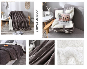Comfy Sherpa Throw Blanket