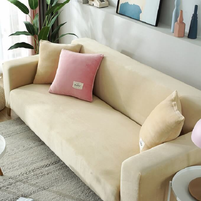 Velvet Stretchable Miracle Sofa Cover,Magic Fit Couch Covers,pillow covers