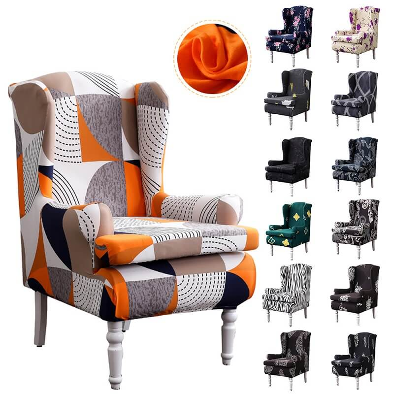 2 Piece Wingback Chair Covers