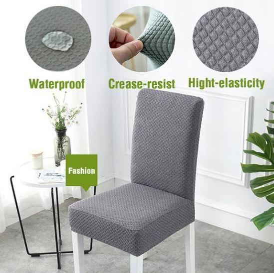 Chair Cover Waterproof  Chair Seat Cover Removable Chair Protector Multi-color