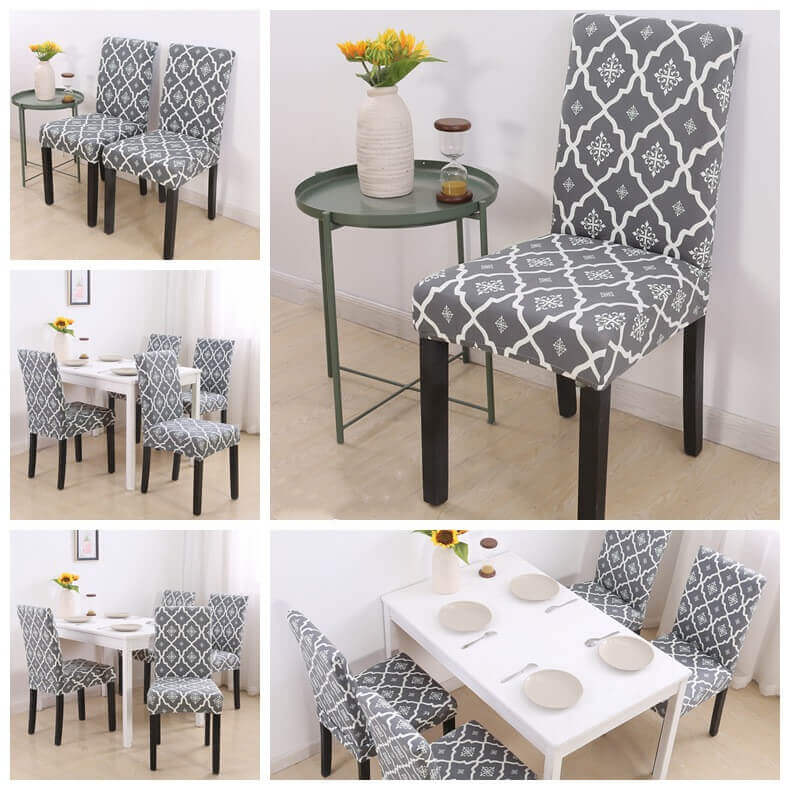 Magic Fit Stretch Washable Dining Room Chair Covers , Banquet Chair Seat Protector Slipcover for Party