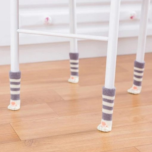 Cat Paw Chair Socks (4pcs)