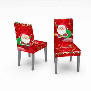 Christmas Waterproof Dust-Proof Tablecloth Covers And Stretchable Chair Covers