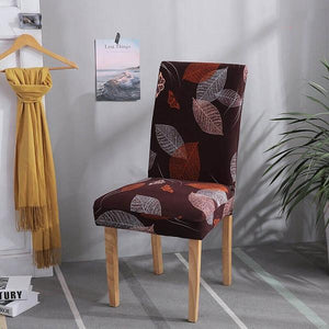 Stretch Removable Washable Soft Spandex Stretch Dining Chair Covers,Printed Chair Slipcovers Protector Slipcover