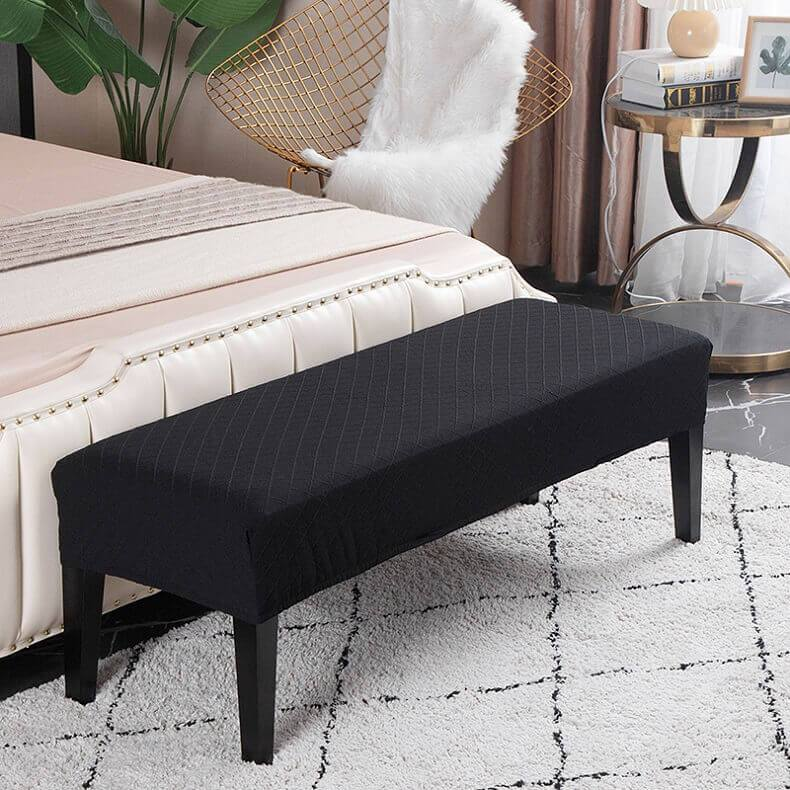 Stretch Jacquard Dining Bench Covers