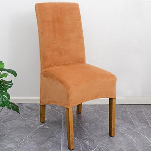 Stretch Velvet XL Size Dining Chair Covers