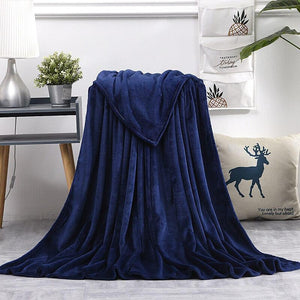 Flannel Fleece Blanket, Soft and Warm All Season Throw for Sofa,Bed,Living Room