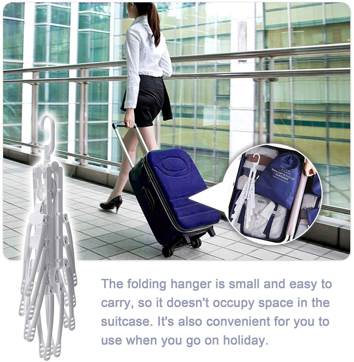 8-in-1 Space Saving Collapsible Hanger|Multi-Function Clothing Rack