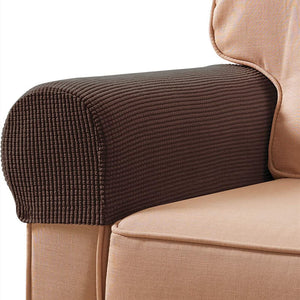 2 Pack Sofa Armrest Cover Stretch Fabric Anti-Slip Furniture Protector