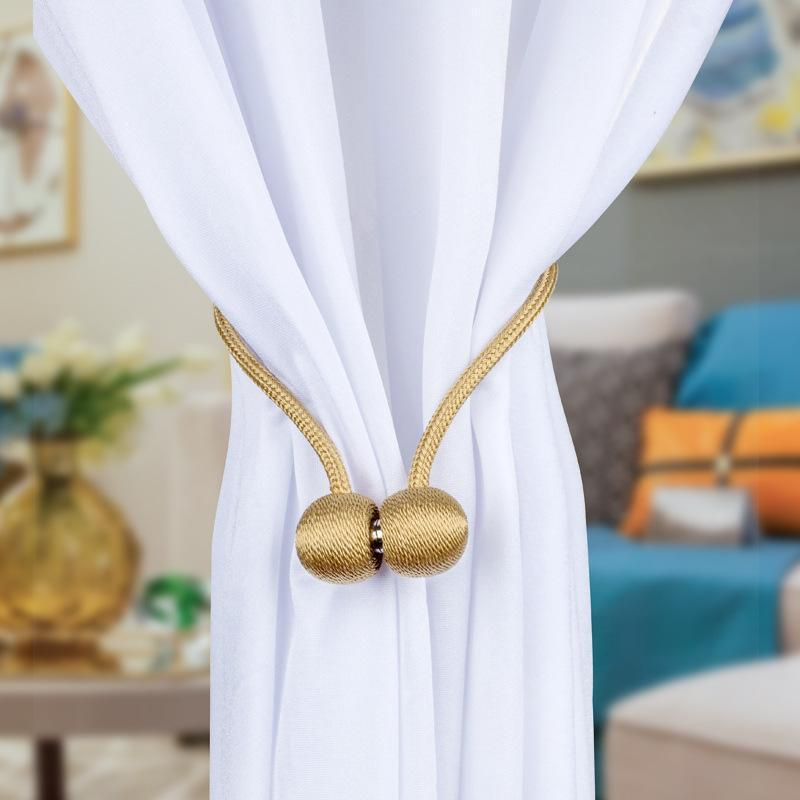 2/4 Pairs Magnetic Curtain Tie Backs,Decorative Curtain Buckle Holdbacks