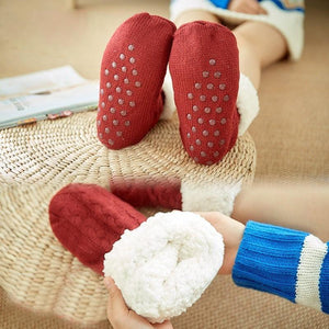 Extra-warm Fleece Indoor Slipper Socks