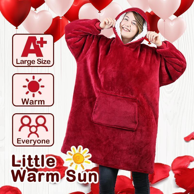 The Comfy Blanket Sweatshirt For Adults & Children,Warm Cozy fleece  Blankets Hoodie,One Size For All