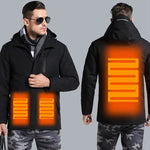 Electric Heated Jacket For Men &Women |Waterproof and Windproof Heated Coat with hood
