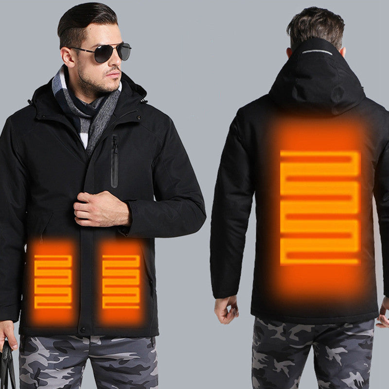 Men &Women Electric Heated Jacket |Soft Lightweight Hooded Coat |Waterproof and Windproof Heated Coat