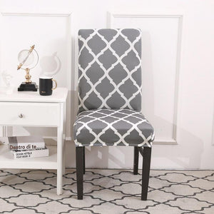 Soft spandex Gray Chair Cover