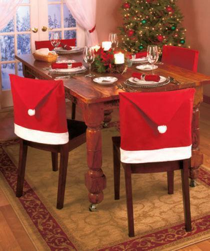 Santa Hat christmas Chair Cover