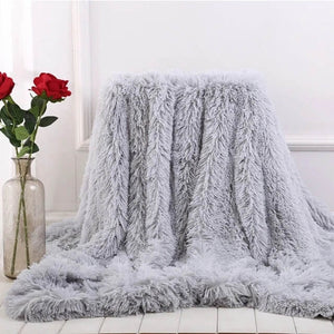Fluffy Faux Fur Throw Blanket |Soft Plush fuzzy blankets for Couch Sofa