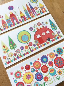 Set of 3 Colourful Cards