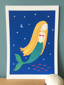 Night Swimming - Art Print