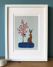 Load image into Gallery viewer, The Hare and the Blackbird - Fine Art Print