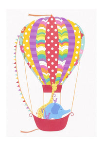 Ballooning Around - Nursery Art Print