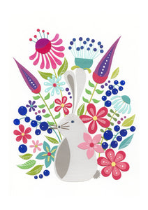 The Paper Rabbit - Floral Fine Art Print