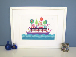 HOUSEBOAT - Art Print