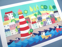Load image into Gallery viewer, Heading Out - Harbour and Lighthouse Fine Art Print